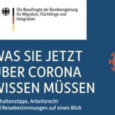 Brandaktuell: Flyer mit mehrsprachiger Informationen zum Coronavirus